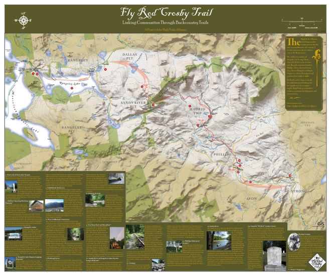 The first phase of the Fly Rod Crosby Trail stretches twenty miles from downtown Phillips to Saddleback Maine ski resort.